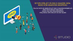 10 tips för att få din e-handel sida redo för semester shopping